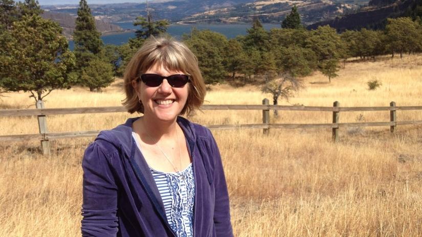 Beth in field